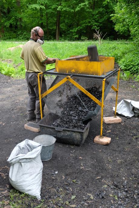 Drcení uhlí