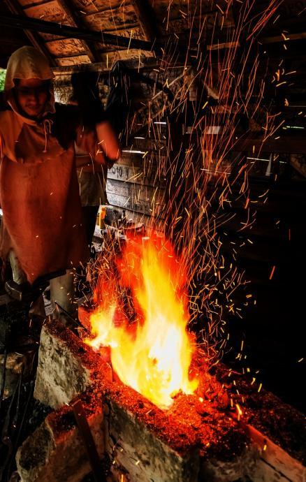 Stará huť u Adamova - kovářská výheň