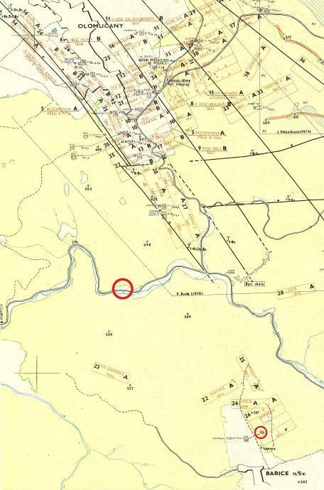 Mapa důlních měr adamovských železáren