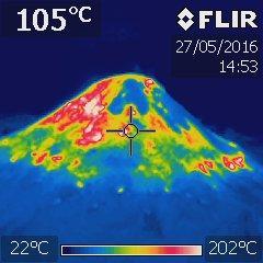 Rozložení teplot na povrchu milíře 2