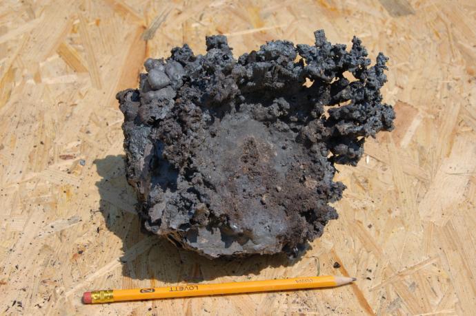 J-08-01 Železná houba po očištění.