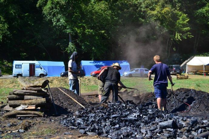 Vybírání dřevěného uhlí