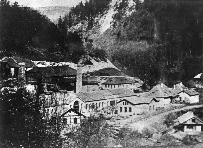 Stará huť u Adamova - šedesátá léta 19. století