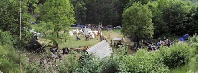 Experimentální areál u Staré huti v loňském květnu (2014)