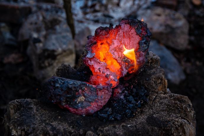 Rozseknutá železná houba