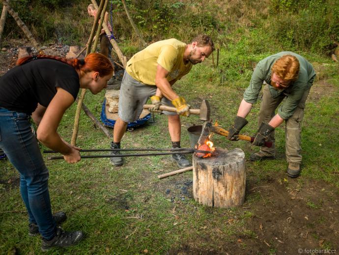 Nasekávání železné houby