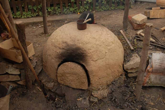Celkový pohled na pec v Sebranicích.