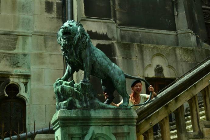 Socha lva v Nancy