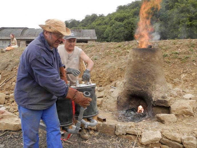 Zahřívání pece kolegy Merluzza