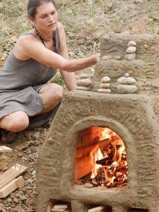 Roztápění chlebové pece